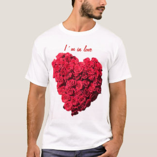 I´m in love red rose heart T-Shirt