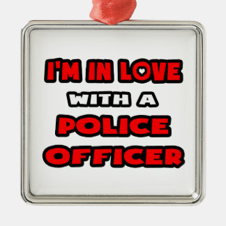 I m In Love With A Police Officer Christmas Ornament