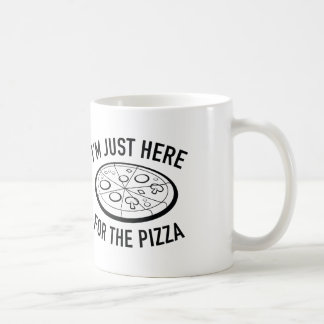 I'm Just Here For The Pizza Classic White Coffee Mug