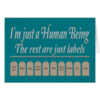 I ` m Just to Human Being Card