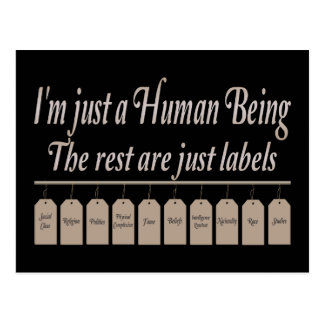 I ` m Just to Human Being Postcard