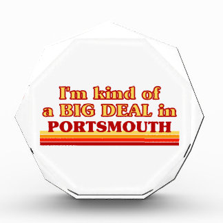 I´m kind of a big deal in Portsmouth Acrylic Award