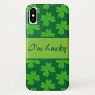 I'm Lucky Clover iPhone X Case