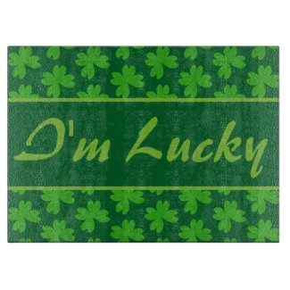 I'm Lucky Clover Cutting Board