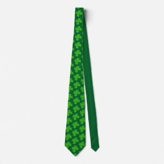I'm Lucky Clover Neck Tie