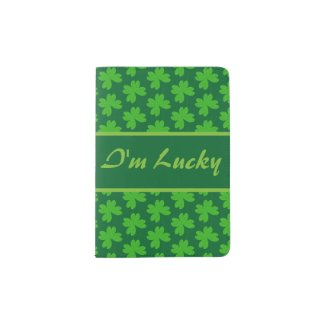I'm Lucky Clover Passport Holder