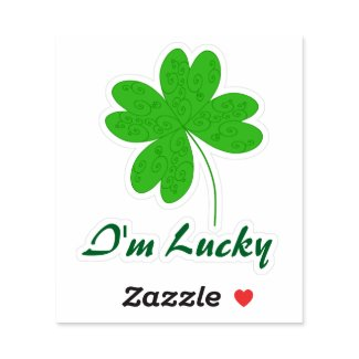 I'm Lucky Clover Sticker