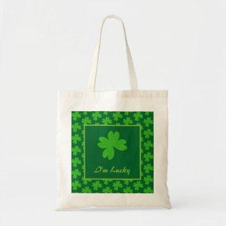 I'm Lucky Clover Tote Bag