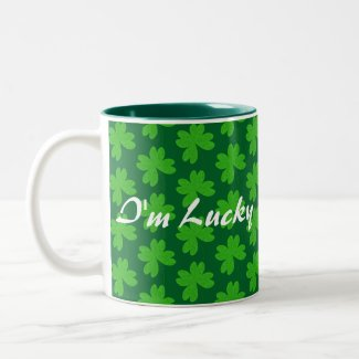 I'm Lucky Clover Two-Tone Coffee Mug
