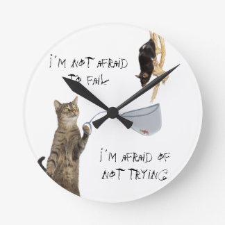 I´m no asustado fallar I´m asustado de no intentar Reloj De Pared
