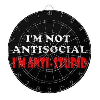 I m Not Antisocial I m Anti-Stupid Dartboard