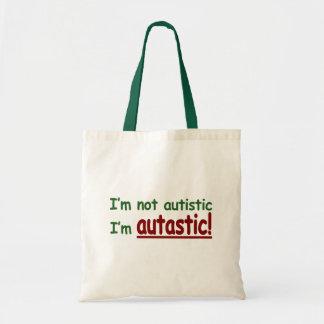 I m not Autistic I m Autastic Autism Awareness Canvas Bags