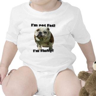 I m not fat Bulldog baby Baby Bodysuit
