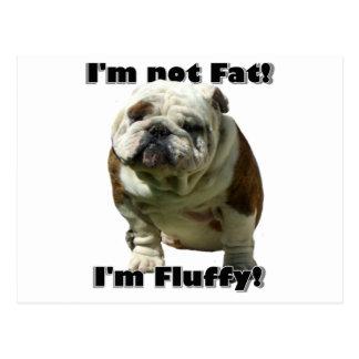 I m not fat Bulldog postcard