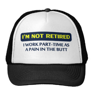 I'm not retired, I work part-time as a pain Trucker Hat