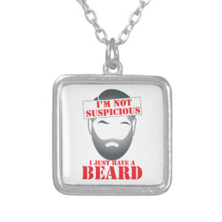 I'm not suspicious - I just have a BEARD Silver Plated Necklace