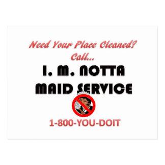 I.M. Notta Maid Service Post Card