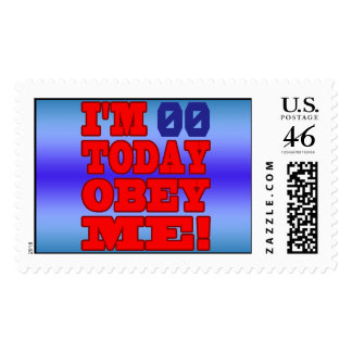 I m - Obey Me Funny Customize Birthday Template Postage Stamps