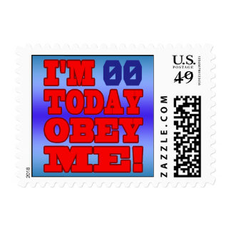 I m - Obey Me Funny Customize Birthday Template Stamps