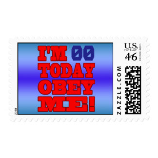 I m - Obey Me Funny Customize Birthday Template Postage Stamp