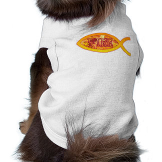 I m on FIRE for Christ - Christian Fish Symbol Dog T-shirt