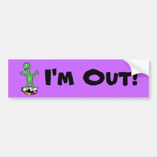 I'm Out Turtle Bumper Sticker Bumper Stickers