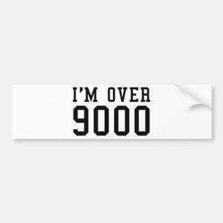 I'm Over 9000 Car Bumper Sticker