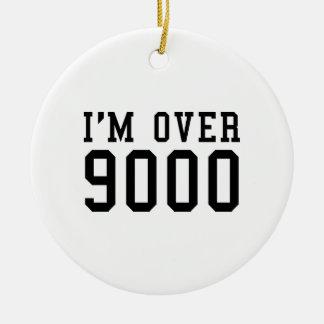 I'm Over 9000 Ceramic Ornament