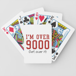 I'm Over 9000. Get Over It! Bicycle Playing Cards