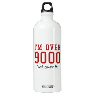 I'm Over 9000. Get Over It! SIGG Traveler 1.0L Water Bottle