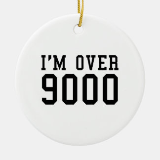 I'm Over 9000 Double-Sided Ceramic Round Christmas Ornament