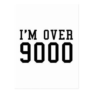 I'm Over 9000 Postcard