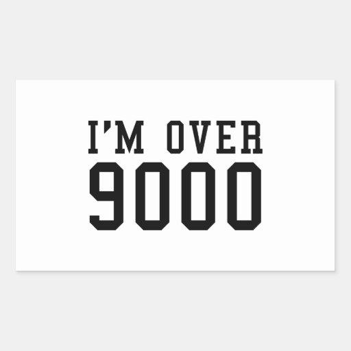 I'm Over 9000 Rectangular Sticker