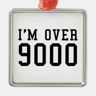 I'm Over 9000 Square Metal Christmas Ornament