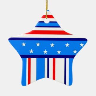 I m Proud to be an American Star Ornament