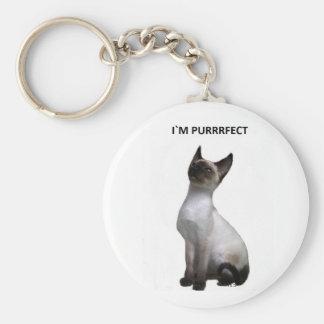 I`m Purrrfect Key Chain