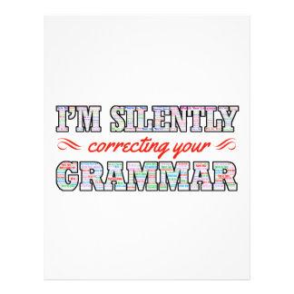 I'm silently correcting your Grammar Letterhead