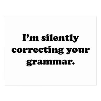 I'm Silently Correcting Your Grammar. Postcard