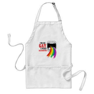 I m so gay I puke Rainbows Apron