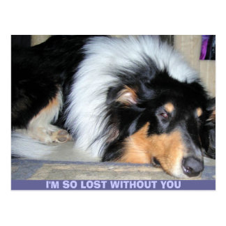 I M SO LOST WITHOUT YOU POSTCARD