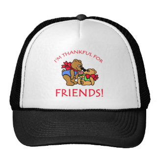I m Thankful for Friends Thanksgiving Apparel Trucker Hats