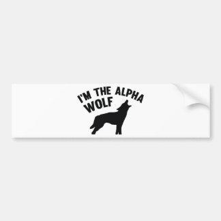 I'm The Alpha Wolf Bumper Sticker