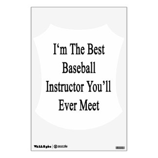 I m The Best Baseball Instructor You ll Ever Meet Room Stickers