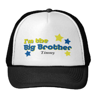I m The Big Brother In Blue Yellow Mesh Hats
