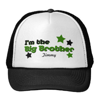 I m The Big Brother In Green Black Mesh Hat