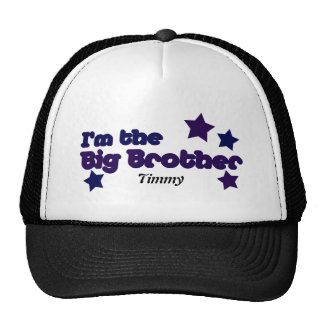 I m The Big Brother In Purple Black Mesh Hats