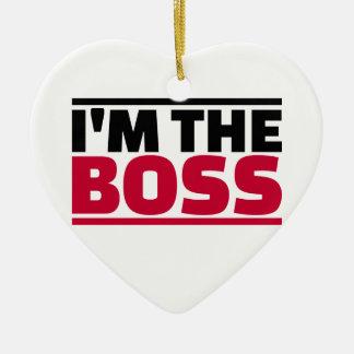 I'm the boss ceramic ornament