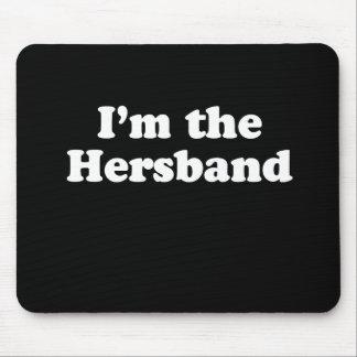 I m the hersband Pickup Line Mousepad
