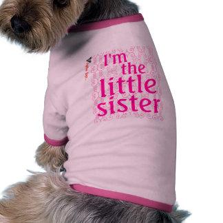 I m the little sister dog tee shirt