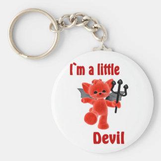 I ` m un pequeño diablo llavero redondo tipo pin